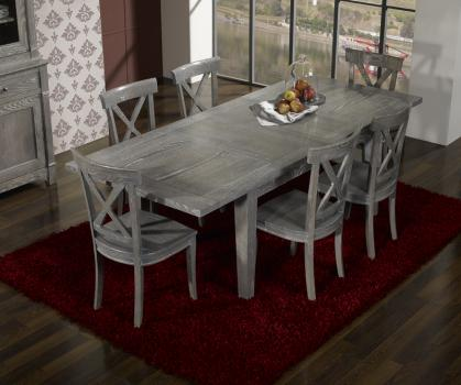 Table rectangulaire collection lisa 160x100 en ch ne for Table en chene blanchi