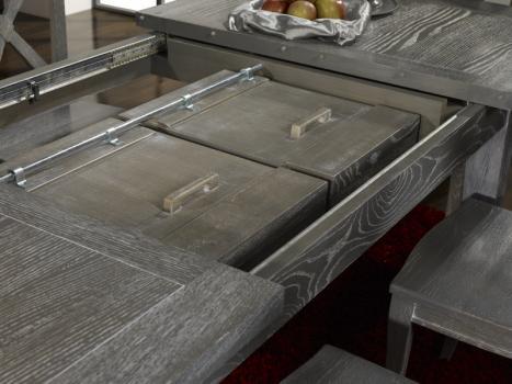 Table rectangulaire collection lisa 160x100 en ch ne Table bois rectangulaire avec allonges