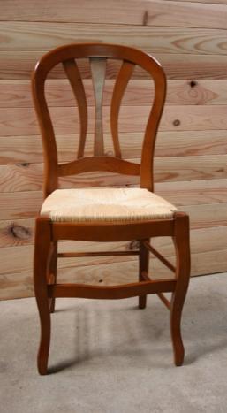 chaise alice de style louis philippe en merisier massif meuble en merisier massif. Black Bedroom Furniture Sets. Home Design Ideas