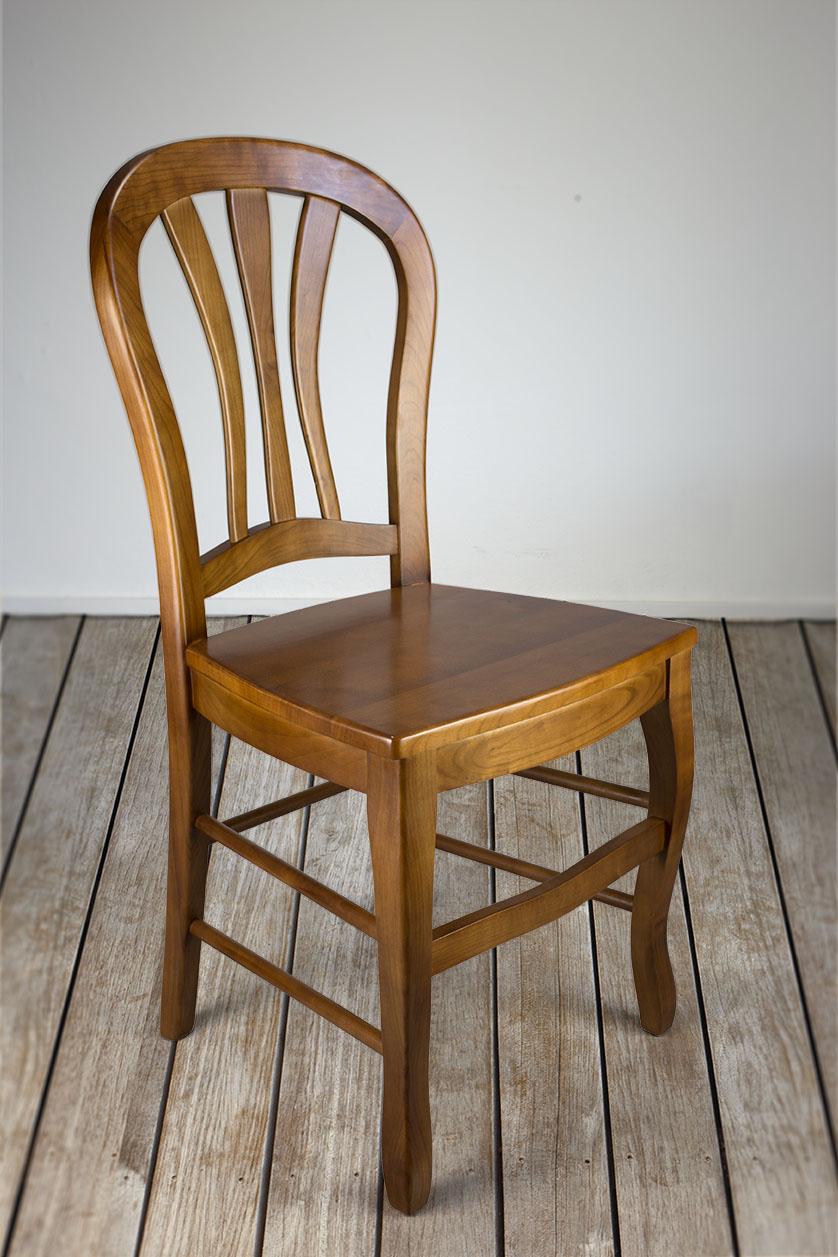 chaise alice de style louis philippe en merisier massif assise bois meuble en merisier massif. Black Bedroom Furniture Sets. Home Design Ideas