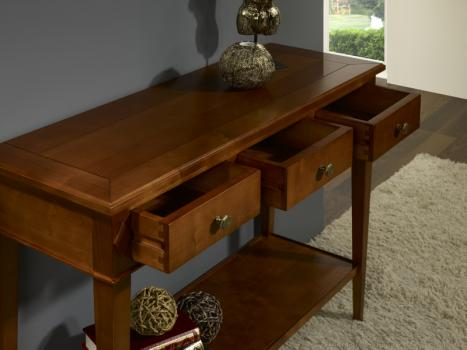 console en merisier de style directoire meuble en merisier massif. Black Bedroom Furniture Sets. Home Design Ideas