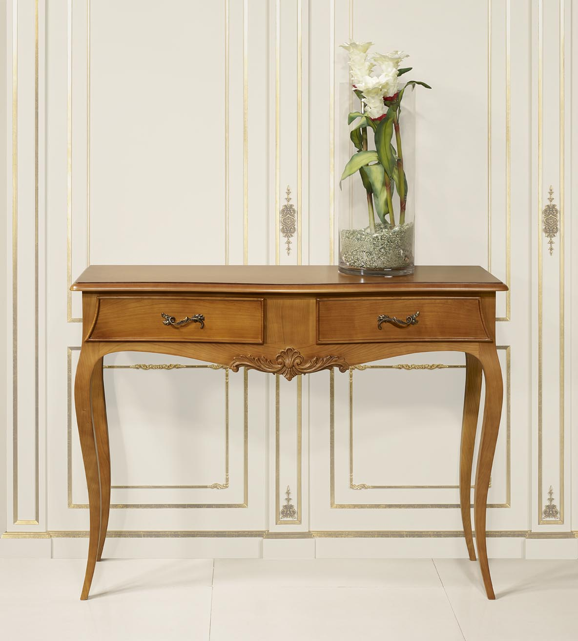 console anne luce en merisier de style louis xv meuble en merisier massif. Black Bedroom Furniture Sets. Home Design Ideas