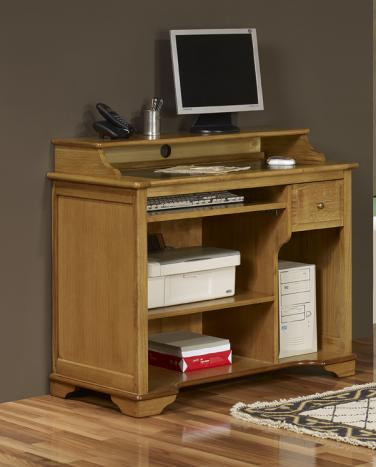 petit bureau informatique en ch ne de style louis philippe meuble en ch ne massif. Black Bedroom Furniture Sets. Home Design Ideas
