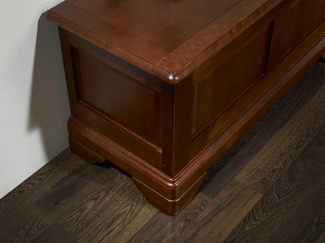 banc coffre camille de style louis philippe en merisier massif meuble en merisier massif. Black Bedroom Furniture Sets. Home Design Ideas