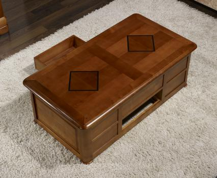 table basse bar paul en merisier de style louis philippe. Black Bedroom Furniture Sets. Home Design Ideas