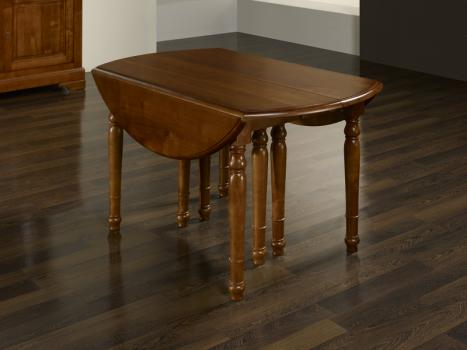 table ronde volets diametre 140 en merisier massif de style louis philippe meuble en. Black Bedroom Furniture Sets. Home Design Ideas