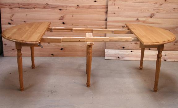 76639785b00329 free table ronde volets alain en chne massif de style louis philippe  allonges diametre meuble en chne massif with table ronde en chene
