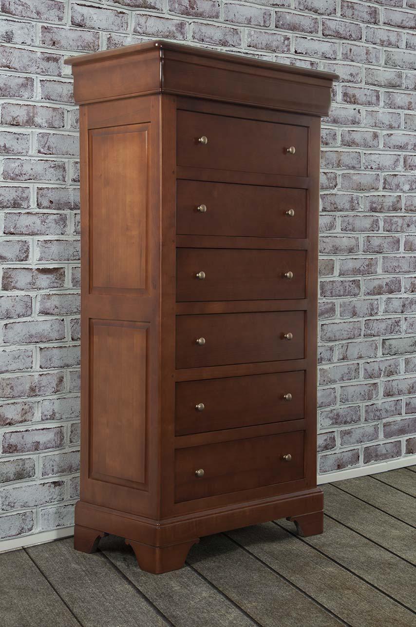 semainier en meriser massif de style louis philippe meuble en merisier massif. Black Bedroom Furniture Sets. Home Design Ideas