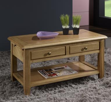 table basse ludovic en ch ne de style campagnard meuble en ch ne massif. Black Bedroom Furniture Sets. Home Design Ideas
