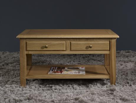 Table basse ludovic en ch ne de style campagnard meuble for Table basse en chene massif
