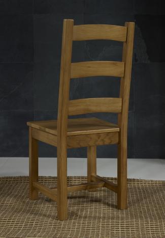 chaise en chne massif de style campagnard assise chene prix foire 18800 eur - Chaise En Chene