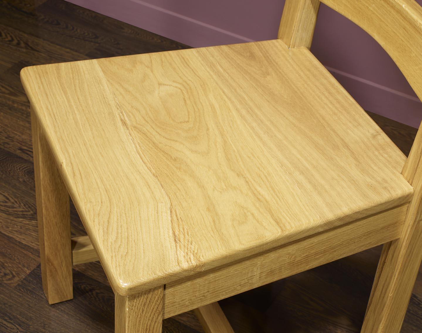 chaise en ch ne massif de style campagnard assise chene. Black Bedroom Furniture Sets. Home Design Ideas