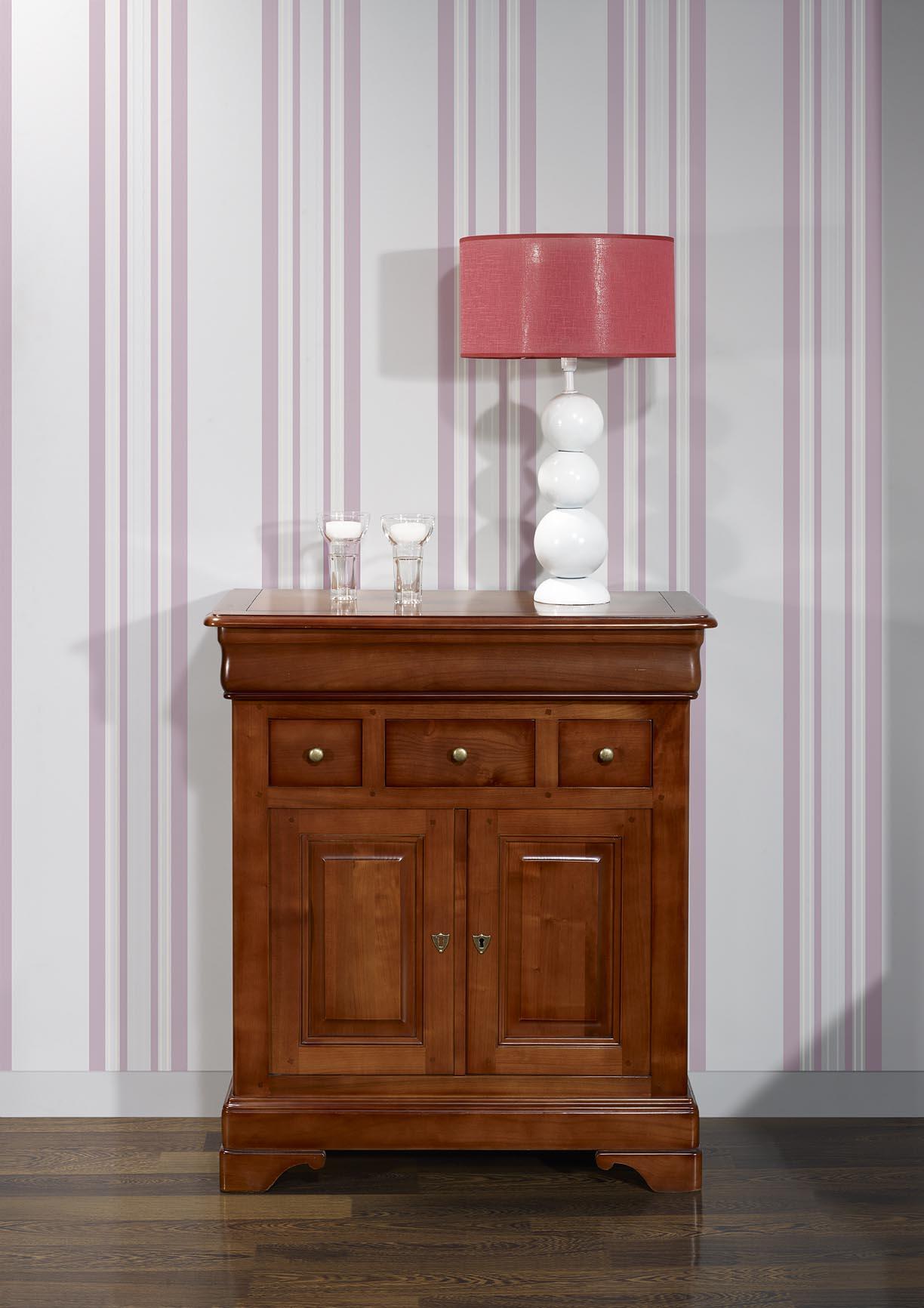supérieur Petit buffet Maria-josée en Merisier Massif de style Louis Philippe , meuble  en Merisier massif