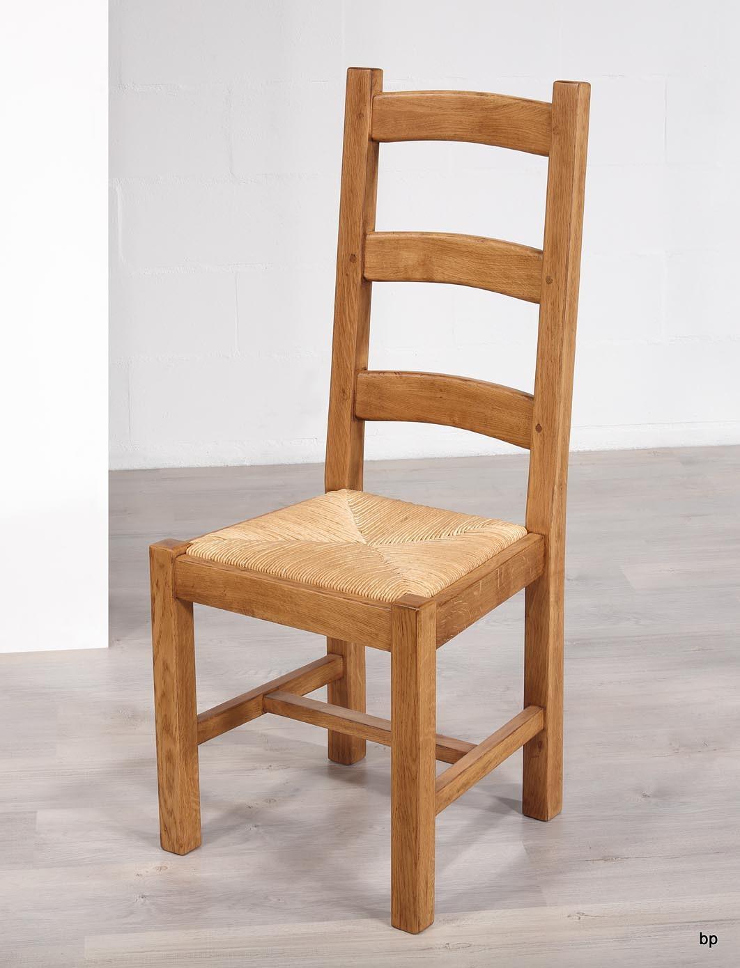 Assise PailleMeuble Chêne Massif Style Chaise Campagnard En De c5RL43qAj