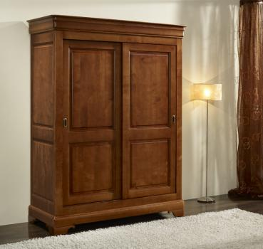 armoire 2 portes clara en merisier massif de style louis. Black Bedroom Furniture Sets. Home Design Ideas