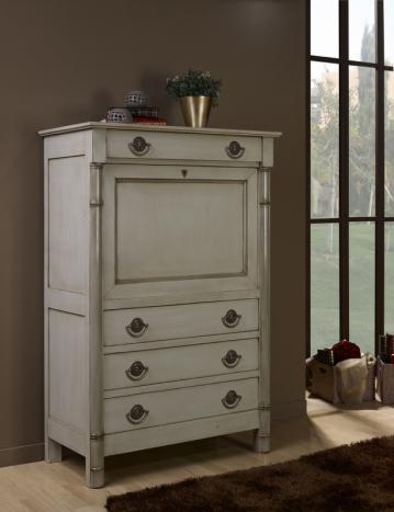 Secr taire margot de style empire r alis en merisier for Decorer un meuble bureau