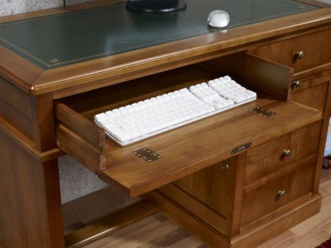 petit bureau lucie en merisier de style louis philippe meuble en merisier massif. Black Bedroom Furniture Sets. Home Design Ideas