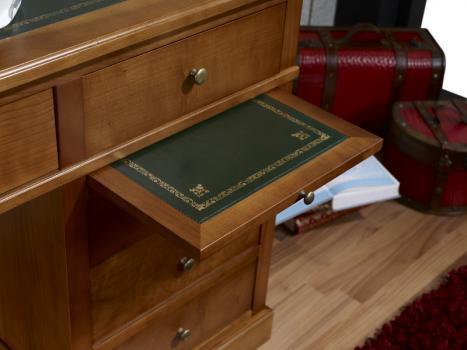 petit bureau lucie en merisier de style louis philippe. Black Bedroom Furniture Sets. Home Design Ideas