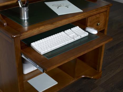 Petit bureau informatique malorie en merisier de style louis