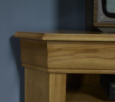 Meuble tv d 39 angle arnaud en ch ne massif de style louis - Meuble tv d angle en bois ...
