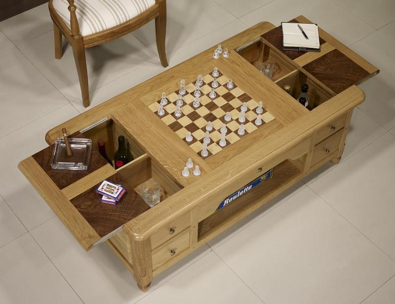 table basse jeu d 39 chec en ch ne et noyer de style louis. Black Bedroom Furniture Sets. Home Design Ideas