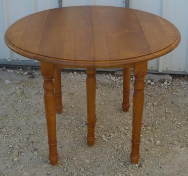 table ronde à volets diametre 105 4 allonges en chêne massif