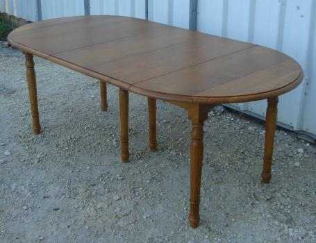 table ronde volets diametre 105 3 allonges en ch ne massif meuble en ch ne massif. Black Bedroom Furniture Sets. Home Design Ideas