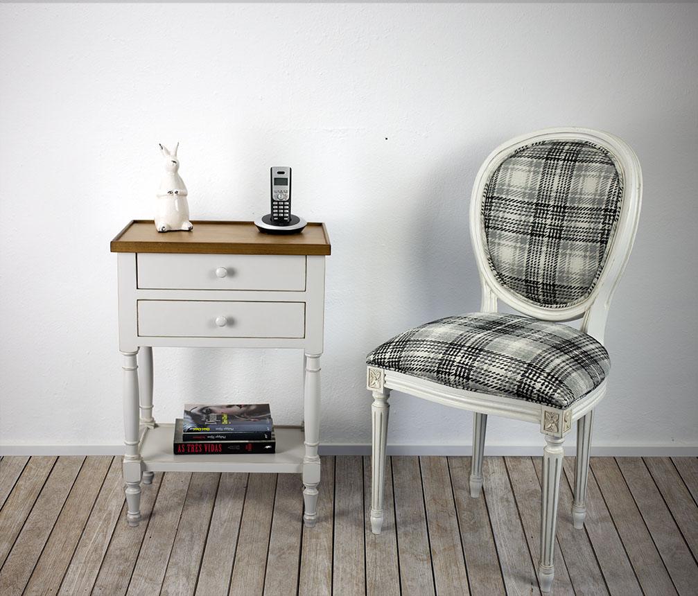 table de téléphone en merisier de style louis philippe gris perle ... - Meuble Telephone Design