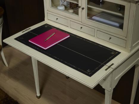 bonheur du jour ad le r alis en merisier de style directoire finition ivoire antiquaire. Black Bedroom Furniture Sets. Home Design Ideas