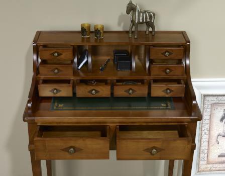bonheur du jour en merisier de style directoire meuble en merisier massif. Black Bedroom Furniture Sets. Home Design Ideas