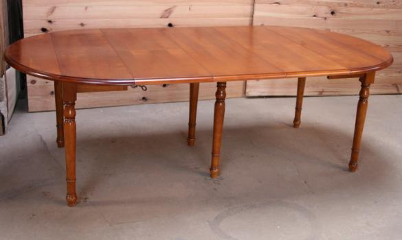 table ronde volets diametre 120 en merisier massif de style louis philippe 3 allonges de - Table Merisier Massif
