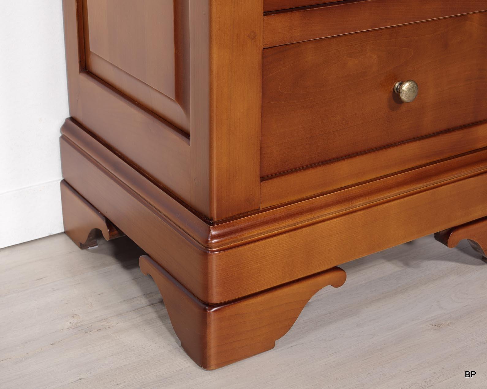 meuble t l phone c line en merisier massif de style louis philippe ou meuble d 39 appoint. Black Bedroom Furniture Sets. Home Design Ideas