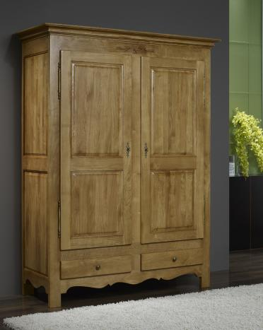 armoire 2 portes en ch ne massif de style campagnard cette. Black Bedroom Furniture Sets. Home Design Ideas