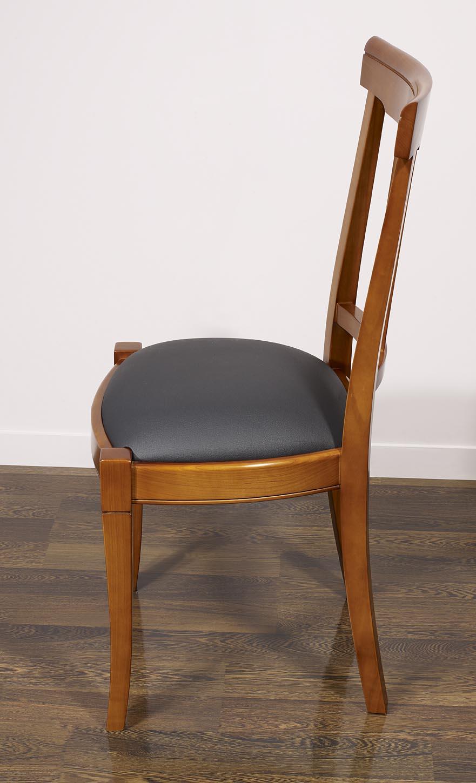 Chaise lou en merisier massif de style louis philippe for Chaise louis philippe ancienne