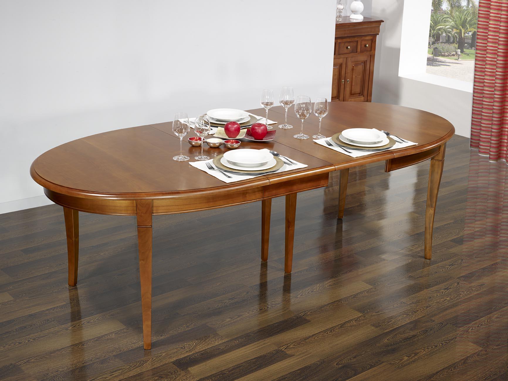 #96353C Table Ovale De Salle à Manger Estelle En Merisier Massif  4415 deco salle a manger louis philippe 1732x1299 px @ aertt.com