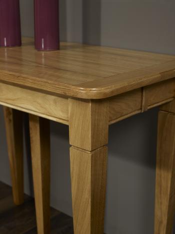 console ou table extensible en ch ne de style louis. Black Bedroom Furniture Sets. Home Design Ideas