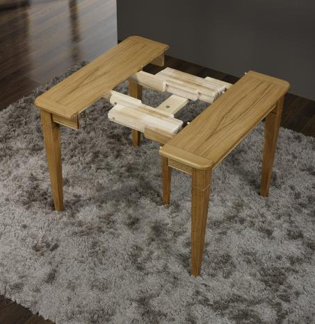 Console ou table extensible en ch ne de style louis for Table en bois massif extensible