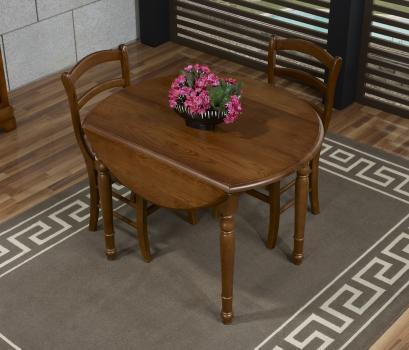 table ronde volets simon en ch ne massif de style louis philippe diametre 100 2 allonges. Black Bedroom Furniture Sets. Home Design Ideas