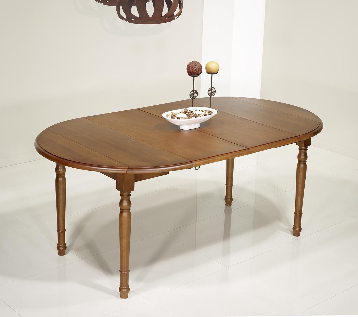 Table ronde volets simon en ch ne massif de style louis - Table ronde 110 cm avec rallonge ...