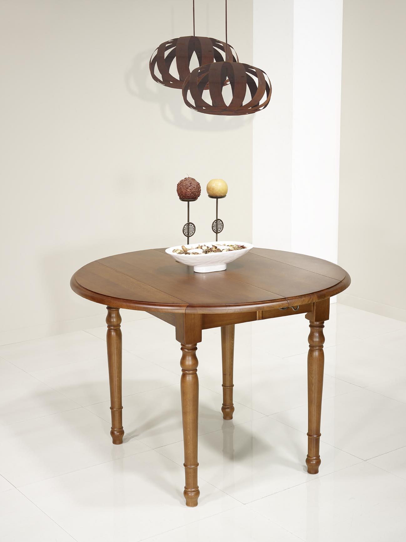 table ronde volets simon en ch ne massif de style louis philippe diametre 120 avec 2 allonges. Black Bedroom Furniture Sets. Home Design Ideas