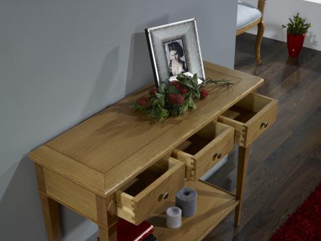console en ch ne de style directoire meuble en ch ne massif. Black Bedroom Furniture Sets. Home Design Ideas