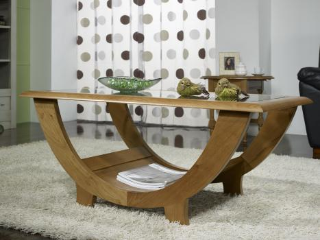 Superbe table basse guillaume en ch ne massif plateau - Table basse en verre modulable ...