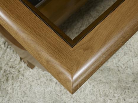 Superbe table basse guillaume en ch ne massif plateau verre meuble en ch ne - Plateau en chene massif ...