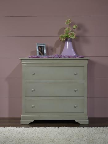 Commode 3 tiroirs anne lise en merisier massif de style louis philippe meuble en merisier massif - Commode louis philippe merisier ...