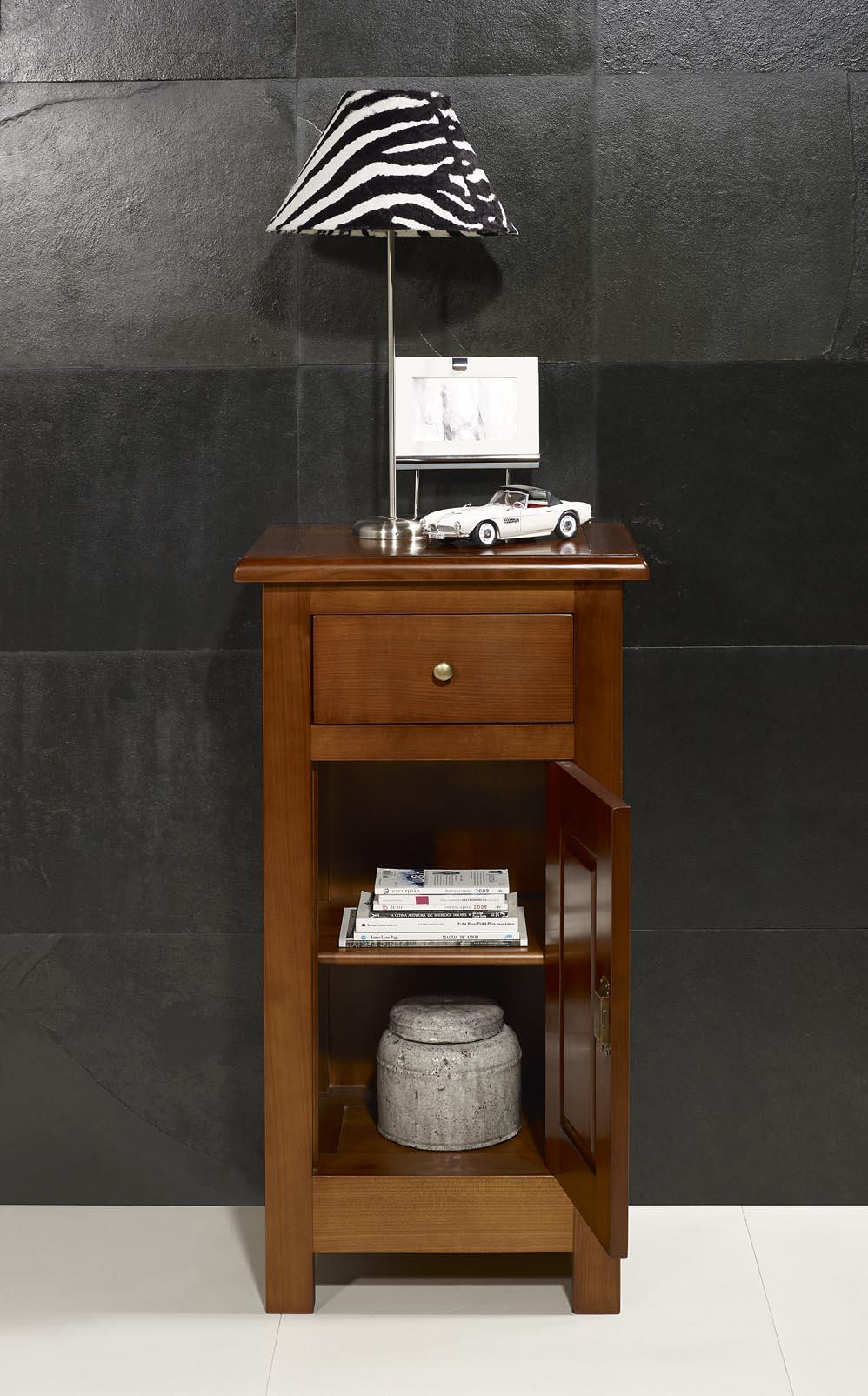 meuble t l phone en merisier massif de style campagne. Black Bedroom Furniture Sets. Home Design Ideas