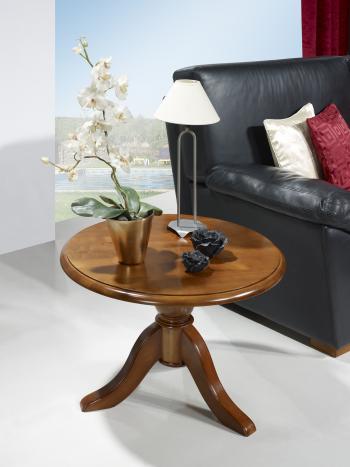 table basse ronde annie en merisier massif de style louis philippe meuble en merisier massif. Black Bedroom Furniture Sets. Home Design Ideas