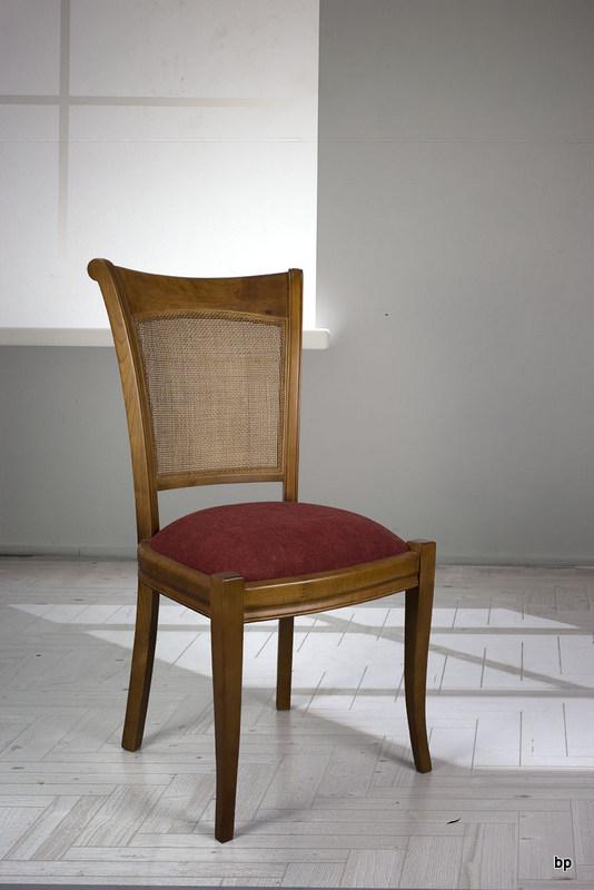 Chaise ambre en merisier de style louis philippe assise bordeaux meuble en merisier massif - Chaise merisier louis philippe ...