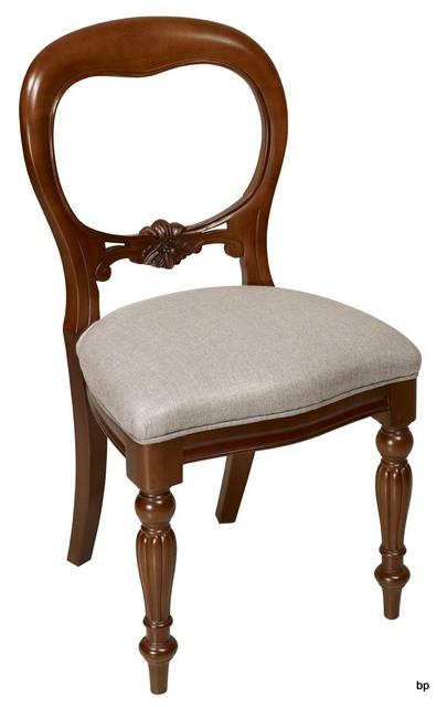 Chaise sculpt e main marion en merisier massif de style louis philippe meuble en merisier massif - Chaise merisier louis philippe ...