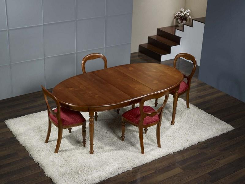 table ovale en merisier massif de style louis philippe 170 110 meuble en merisier massif. Black Bedroom Furniture Sets. Home Design Ideas
