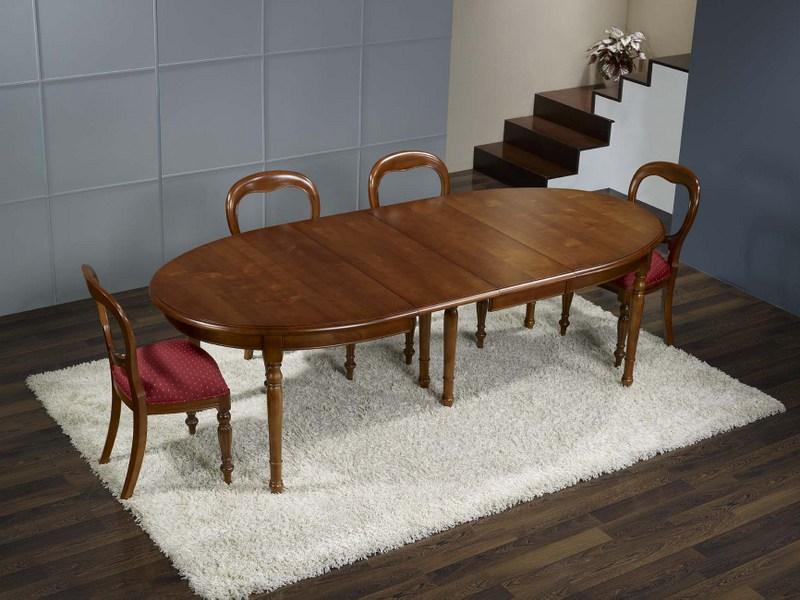 table ovale en merisier massif de style louis philippe 170 110 4 allonges de 40 cm table pour 16. Black Bedroom Furniture Sets. Home Design Ideas
